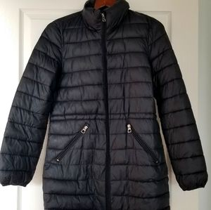 Zara packable puffer coat